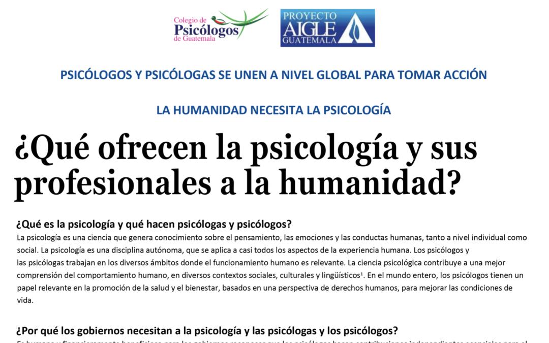 Artículo: La humanidad necesita psicólogos
